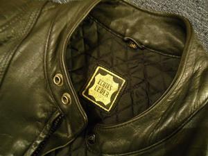 Campera de cuero motoquera marca Echtes Leder (vendo o