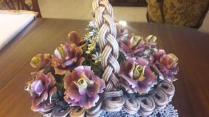 Centro de Mesa!!! Canasta de flores!!!
