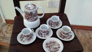 Juego De Cafe Porcelana Marly Motivo Caza - Envíos