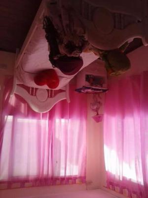 Juego de dormitorio laqueado usado blanco excelente estado