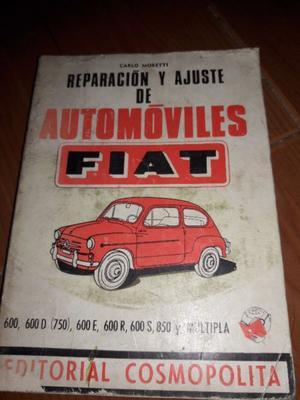 libro reparacion y ajuste de automoviles fiat