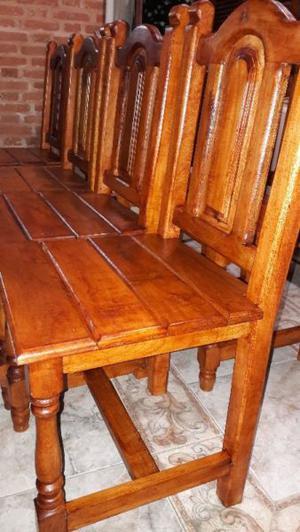 vendo 6 sillas de algarrobo nuevas
