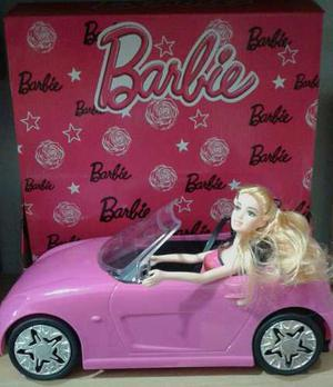 Auto Barbie Miniplay Original+ Muñeca Barbie Mattel!