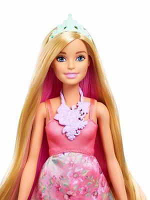 Barbie Princesa Muñeca Cambia Color De Pelo Dreamtopia
