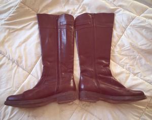 Botas caña alta - chocolate - talle 38