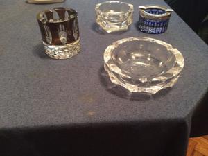 Cenicero cristal tallado