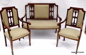 3 sillones 1 cuerpo para sala de espera o posot class - Sillones de estilo ...
