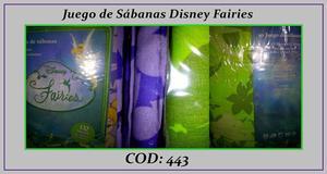 JUEGO DE SÁBANAS Disney Faires 1 1/2 Plaza