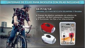Linternas De 1 Led Para Bicicletas Con Pilas Incluidas