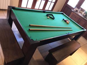Mesa de ping pong, pool y común. Tres en una.
