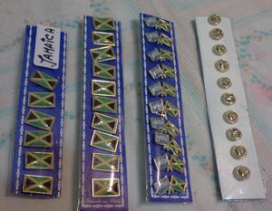 PINS PAIS JAMAICA 2 MODELOS DE 2 CMS