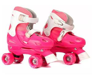 Patin Ajustable Talle 33 A 36 Rosa Soy Luna California