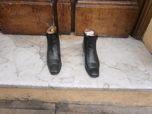 botas nº 36 marca Prune de cuero original