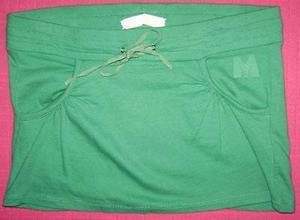 materia - minifalda de algodón con bolsillos