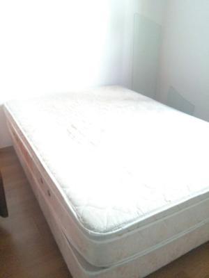 sommier y colchón 2 plazas usado