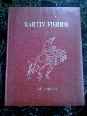 Martin Fierro Tapa De Cuero Litografias Juan Lamela Ed.