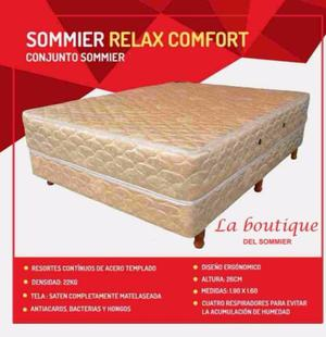 SOMMIER RELAX COMFORT 190X140 CONJUNTO SOMMIER GRAN CALIDAD