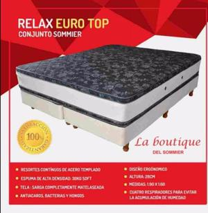 SOMMIER RELAX EURO TOP DE 190X140 CONSULTAL MODELOS