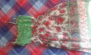 Vestido fibrana y broderie sin uso