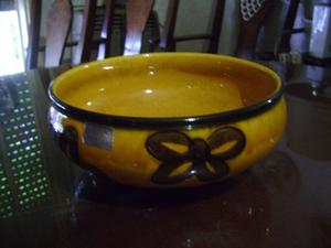 antiguo centro de mesa de ceramica