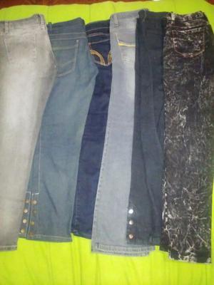 vendo jeans chupin elastizados color azul negro gris