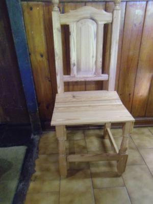 vendo seis sillas de pinotea nuevas sin uso