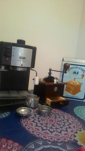Cafetera express delonghi + molinillo de café nuevo