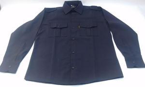 Camisas Policiales Mangas Cortas Y Largas Rip Stop Azul