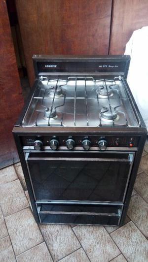 Cocina Usada Longvie 600 dtx. Bandeja de acero inoxidable