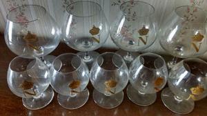 Copas de coñac de cristal Napoleon