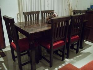 NUEVO !!! mesa y 6 sillas a estrenar !! Flete sin cargo !!