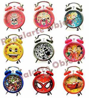 Reloj Despertador Simones Frozen Cars Avengers Mickey Spider