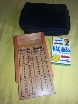 Truquera de madera + cartas + estuche