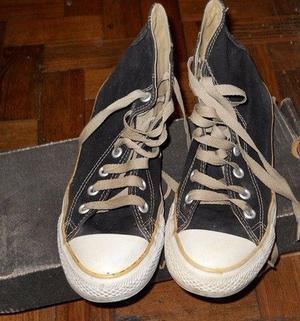 Zapatillas Botitas Converse Negras Con Beige Numero 36