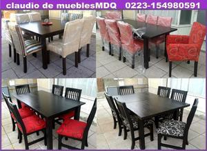 mesa y sillas fabrica