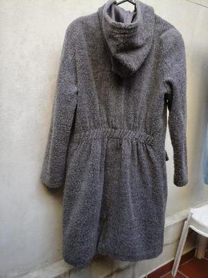 saco gris de polar con capucha, super abrigado!