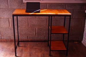 Escritorio mesa industrial hierro y madera posot class - Escritorio estilo industrial ...