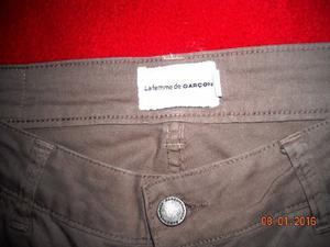 Pantalon Garcon Garcia T:32 C/nuevo,de Mujer,color beige.