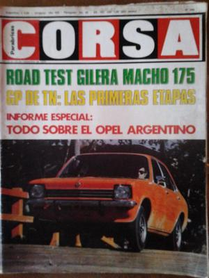REVISTA CORSA OPEL K-180 ROAD TEST GILERA MACHO 175