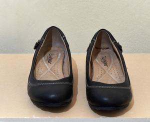 Zapatos negros taco chino de cuero TALLE 37