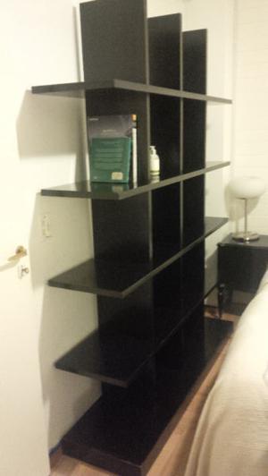 biblioteca organizador o divisor de madera solida laminada