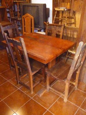 mesa de comedor de algarrobo