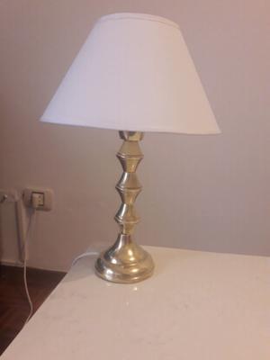 Antigua lampara velador bronce