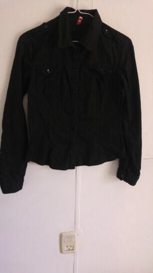 Camisa negra manga larga de mujer Natasha talle S