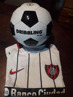 Camiseta De San Lorenzo + Pelota Dribbling