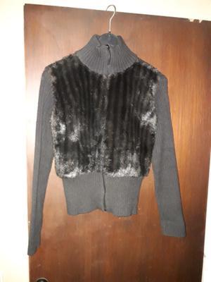 Campera de lana y piel talle S