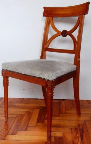 El Restaurador - Par de Sillas estilo Ingles Roble tallado