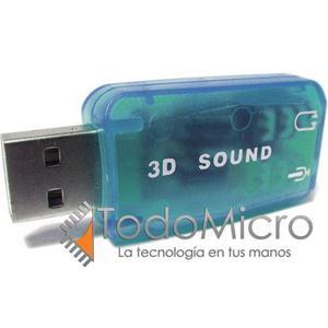 Placa De Sonido Usb Externa Audio 5.1 Surround 3d Todomicro