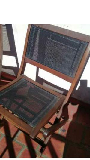 Silla plegable balcón (x 4 sillas)