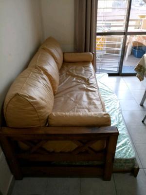 Vendo futon de una plaza con cama marinera